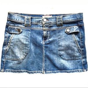 Paige Fountain Ave Denim Pocketed Mini Skirt 25